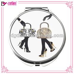 Hot sale cheap compact mirror 4c printing popular compact mirror