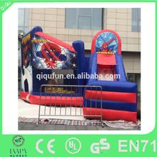 Hot commercial inflatable spiderman bouncer slide for sale