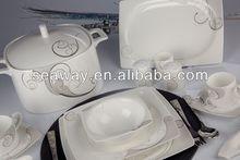 fashionable elegant embossed gold platinum design 64 78 90pcs new bone china dinner set porcelain ceramic tableware