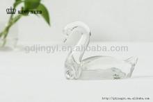 2014 high clear acrylic vivid table swan decoration