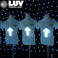 Camiseta el brilho para assinar, design seu próprio brilho led camiseta
