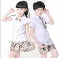 algodão de qualidade uniformes escolares de crianças