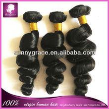 brazilian loose deep wave hair weave, 100% unprocessed virgin deep wave brazilian human hair