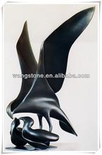 Art and abstract fly bird casting bronze sculpture