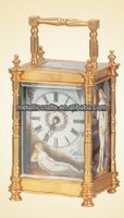 Mid Lacqured Gilt Brass Faux Bamboo Cased Carriage Clock JGKZ-01A-1