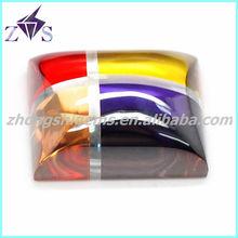 4*6mm Multicolor synthetic rough gems, machine stone, machine gems