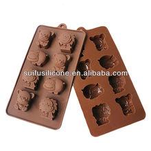 moldes de silicone de chocolate