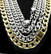 stainless steel 10mm width 1:1 figaro chain necklace ; stainless steel jewelry manufacturer