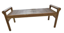 Outdoor Wooden Bench, Acacia in Oiled finishing
