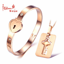 New arrival couple Love eternal heart lock jewelry set for christmas gifts