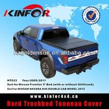 Hard Folding Tonneau Cover for NISSAN NAVARA D40 DOUBLE CAB MODEL 2012
