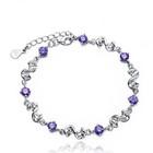 925 Sterling Silver Jewelry fashion jewelry wholesale rope link bracelet Cat Eye YLHS008