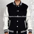 Erkekler siyah ve beyaz üniversite ceket/özel erkek varsity ceketler