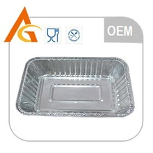 Food baking aluminum foil trays for microwave oven