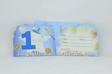 Custom 1st Birthday Invitation Card for Kids from Yiwu Factory