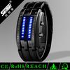 Led flashing watches fashion watches wrist watch binary stainless steel watch