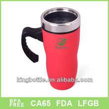 Colorful advertising with plastic handle cofee mug