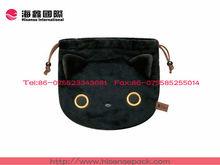 Cute style black custom velvet gift bags /velvet gift pouches promotional