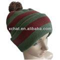 2014 a rayas beanie pom personalizado niños sombrero del invierno y la tapa