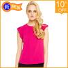 Fashionable China manufacturer women chiffon blouse