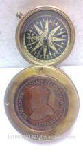 1920 Vintage Repro brass Edwaard VII king and emperor mark slider compass,London