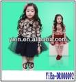 Malha vestido de crianças, flor de manga longa crianças vestido de outono