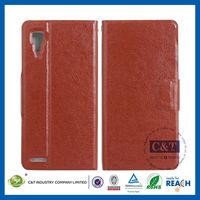 C&T Leather phone accessories slim cover case for lenovo p780 case