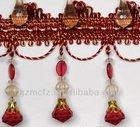 Small fluffy pompom tassel fringe ,curtain fringe,table,sofa decorative