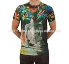 2014 NO MOQ custuom free promotional t shirts sublimation t shirt