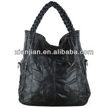 Factory Outlet Lambskin Woven Fashion Ladies Women Genuine Leather Handbag | Shoulder Bag ( BXXZR002)