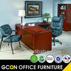 Latest Office modern design executive L shape table/desk veneer Cherry finish