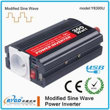 300W DC-AC 24v 220v modified solar inverter,square wave power inverter