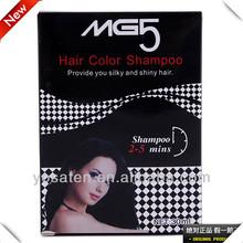 2014 permanent black herbal hair color shampoo in hair dye 30ml