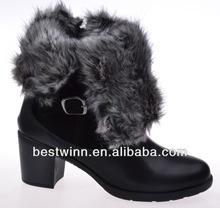High heels snow boots women