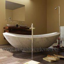 Carrara White Marble Free Standing Bathtub