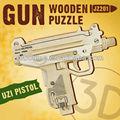 Robotime juguete 3D pistola de madera Puzzle
