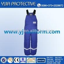 cotton fire retardant suspender trousers / fire proof bib pants EN11612