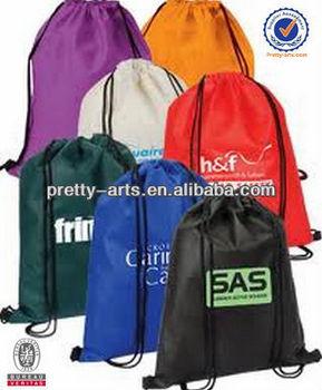 2014 best selling colorful drawstring backpack bag