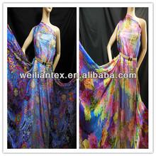 75D Sexy Girls Print Chiffon Maxi Dress China Supplier