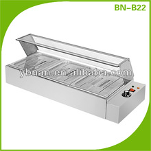 CE electric bain marie food warmer with glass Cover