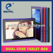 7'' cheapest android 4.2 os dual core tablet pc jelly bean in factory