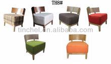 2015 hot sale modern style furniture Living room wood single sofa chair TH8