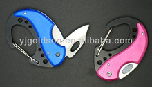 fashionable outlook small carabiner with knife