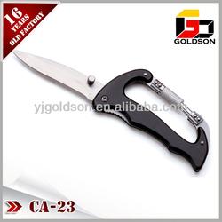 aluminium handle swivel carabiner hook with knife
