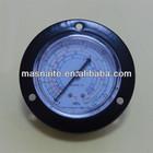 black steel freon pressure gauge/manometer with back flange