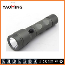 NEW design aluminum alloy rechargeable (1*18650) cree tail safety hammer green led hunting flashlight