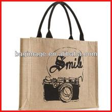 2014 Wholesale Eco 100% Cotton OEM/ODM Jute Shopping Tote Bag