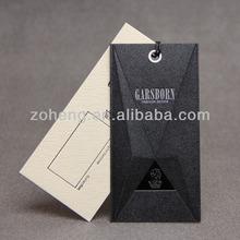 China customized design hang tag/ clothing hang tag/ custom hang tags