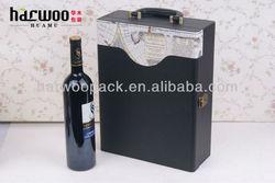 HOT! Popular Elegant PU Wine Gift Box With Leather Handle