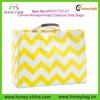 2014 Trendy Fashion Summer Cotton Canvas Monogrammed Chevron Tote Bags
